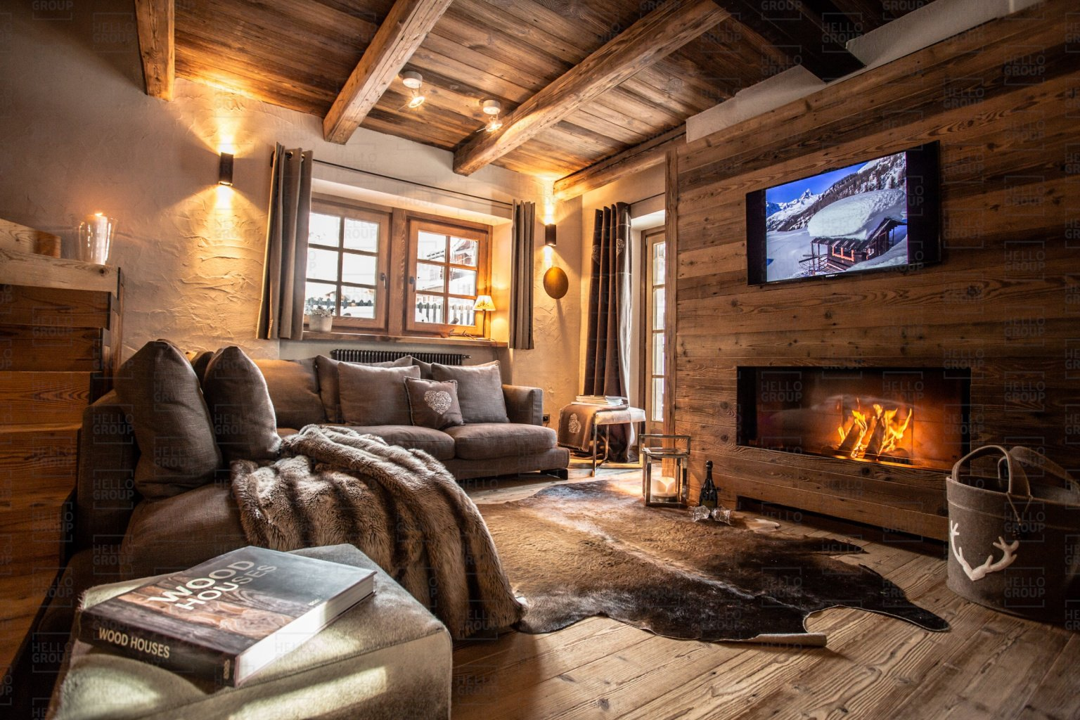 Luxe ski chalet italie maison bianca hellochalet for Divani trentino alto adige